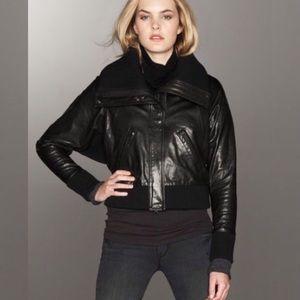 Jackets & Blazers - Leather Bomber Jacket
